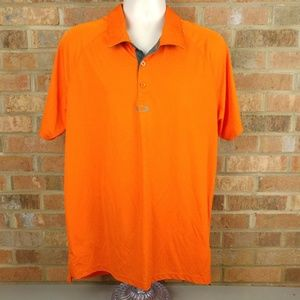 Oakley Hydrolix Orange polo golf shirt